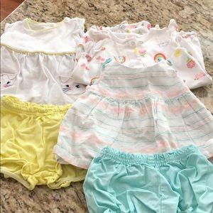 Gymboree 6-12 M baby girl Summer Bundle